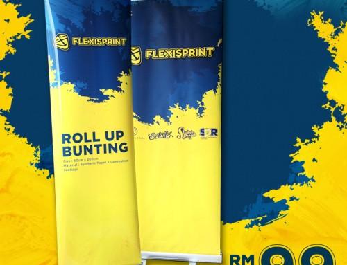 3 Sebab Memilih Roll Up Bunting Printing Murah Di Shah Alam