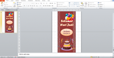 Cara Buat Design Bunting Dengan Powerpoint Flexisprint