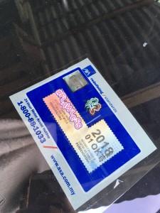 road tax sticker